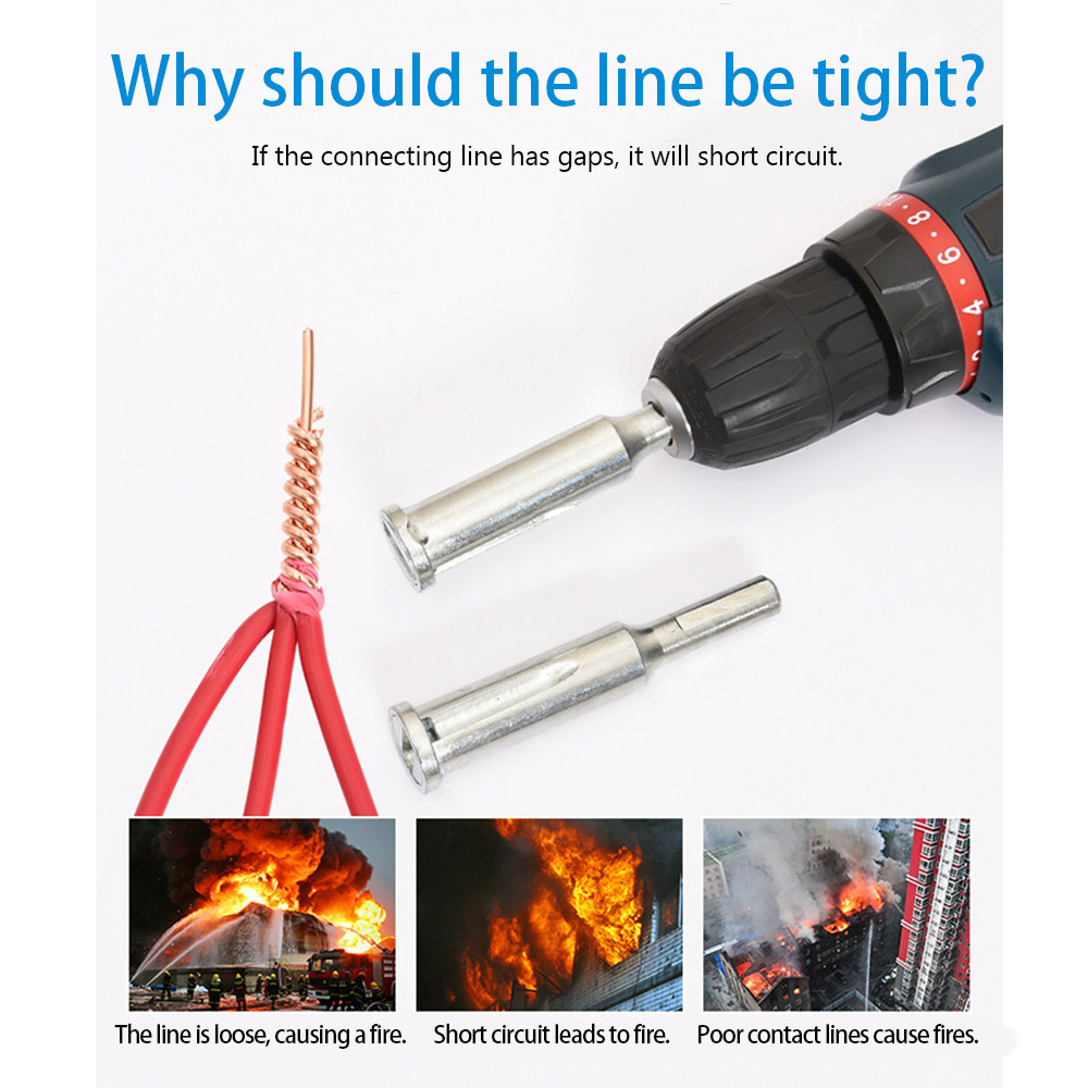 Universal-Electrical-Cable-Twist-Quick-Connector-Drill-Bit-Wire-Stripper-Tool thumbnail 5