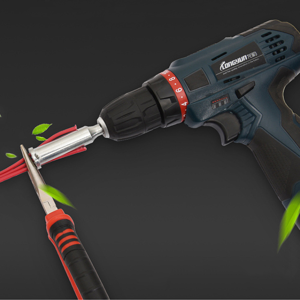 Universal-Electrical-Cable-Twist-Quick-Connector-Drill-Bit-Wire-Stripper-Tool thumbnail 8