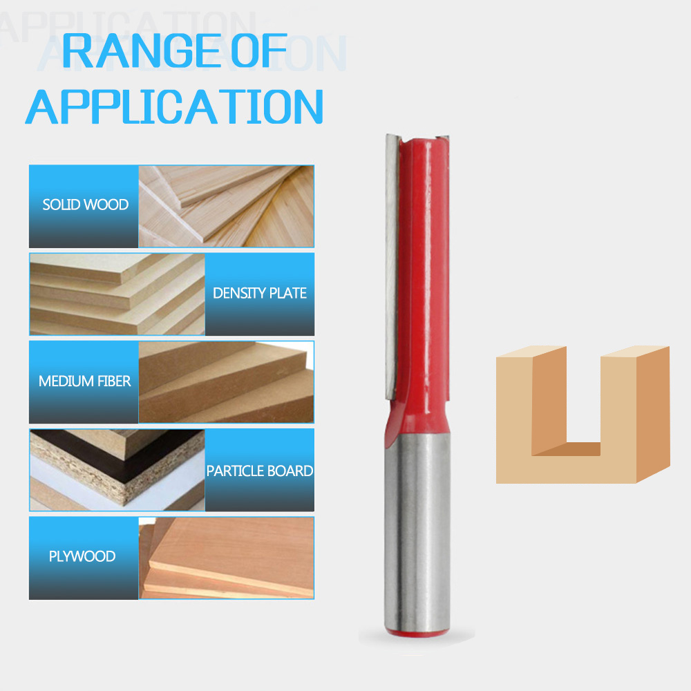 1//2inch Shank Long Blade Straight Router Bit Woodwork Tenon Cutter Tool Tackle