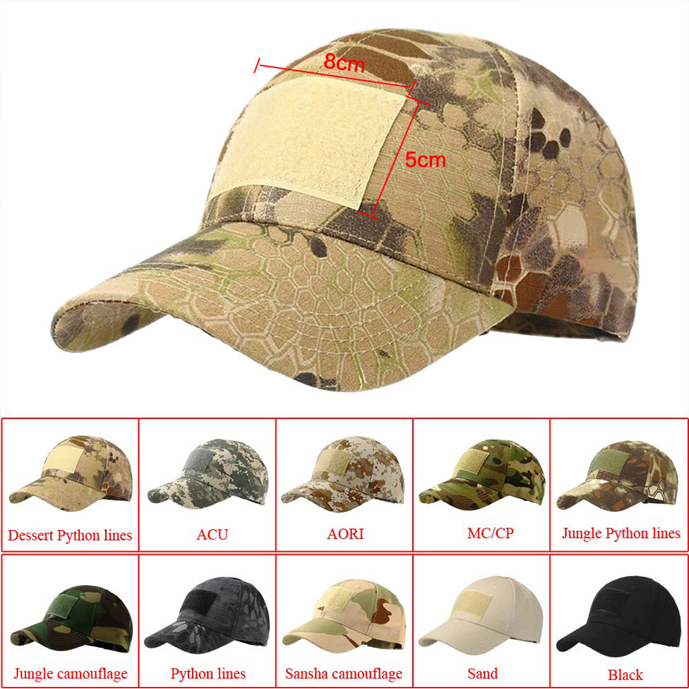 Men Tactical Outdoor Camo Baseball Hat Military Army Special Forces Airsoft Cap