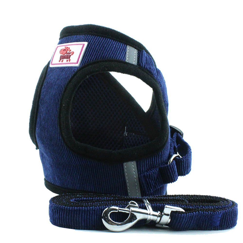 Dog-Harness-Vest-Adjustable-Pet-Puppy-Walking-Training-Lead-Leash-AU thumbnail 6