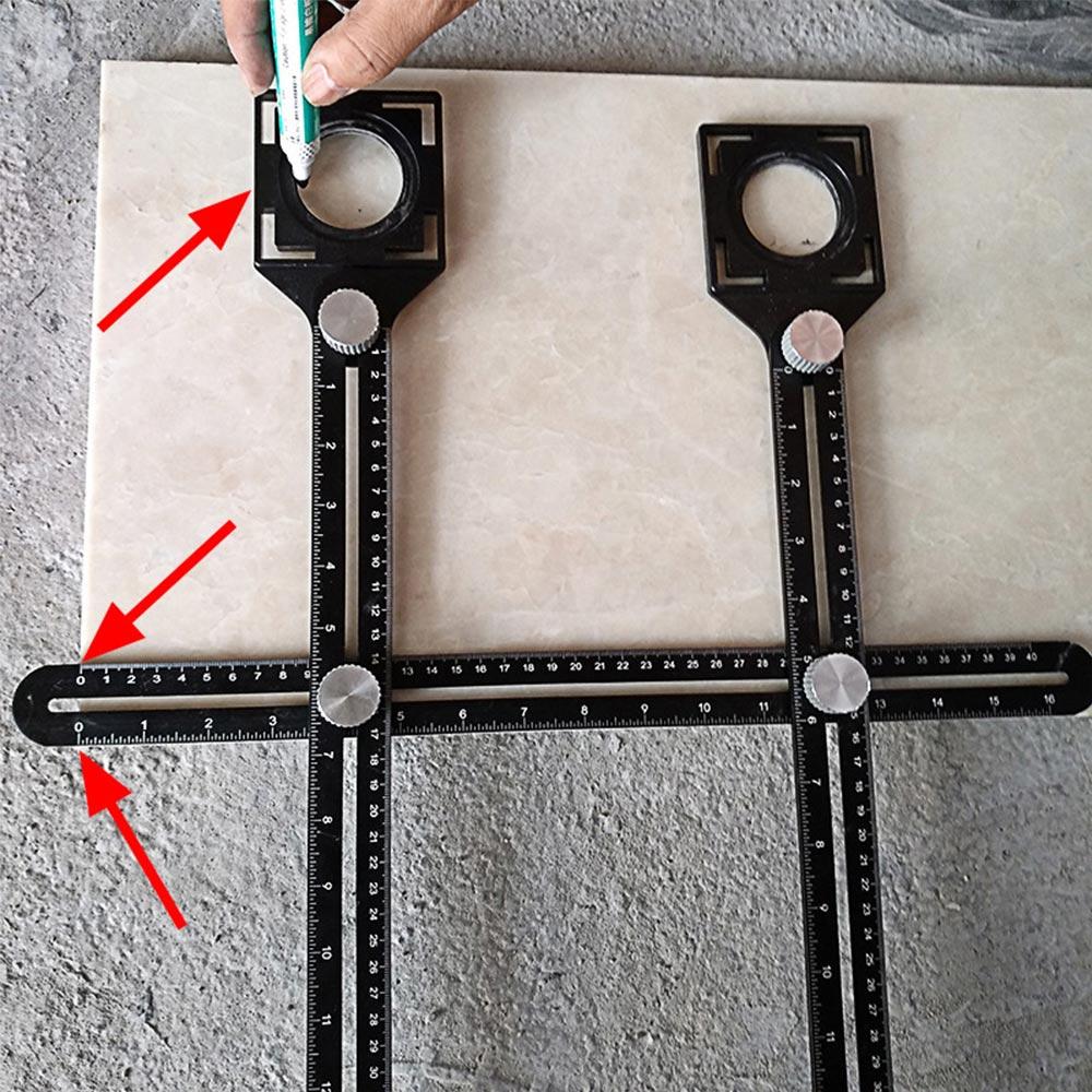 Angle Measuring Ruler Utensil Multi-function Adjustable Angle Measuring Ruler