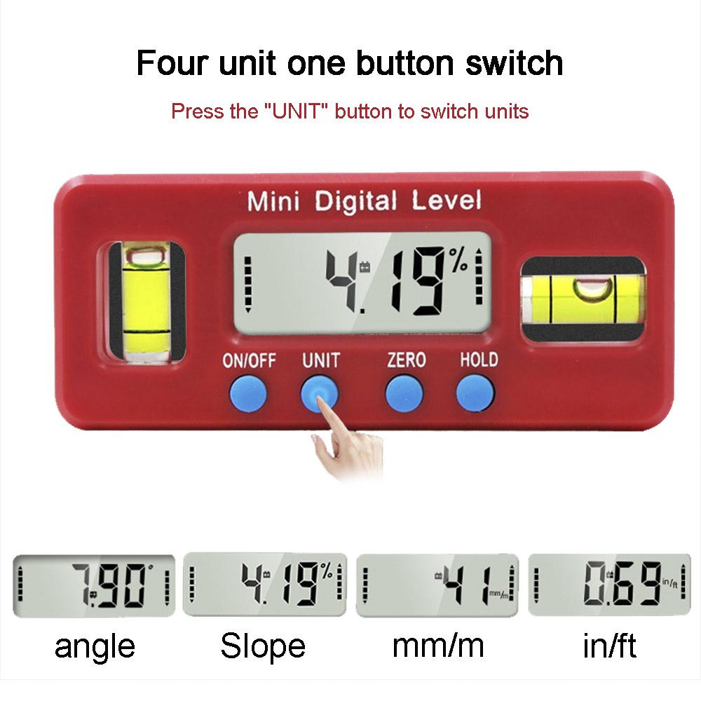 Mini Digital Protractor Inclinometer Magnetic Angle Finder Level Gauge GOOD #ur
