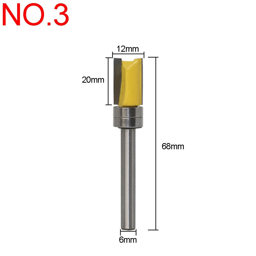 Woodworking Flush Trim Router Bit Top//Bottom Bearing Cutting31.75x9.5x15.8mm