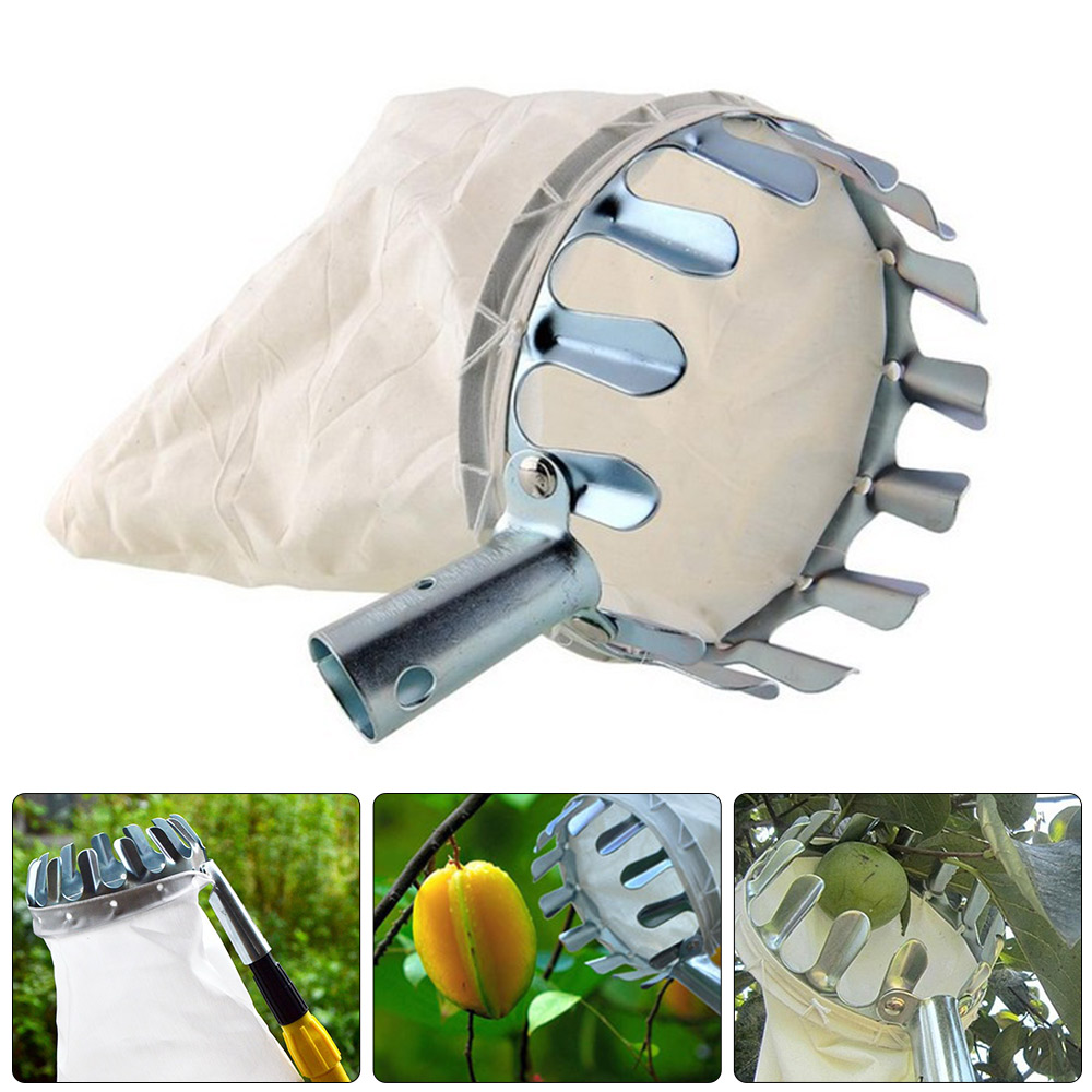 Fruit-Picker-Head-Basket-Gardening-Fruits-Catcher-Picking-Tool-for-Apple-AUD thumbnail 1