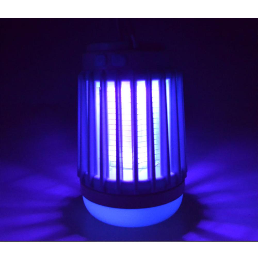 3in1 Solar Camping Lantern Mosquito Killer Lamp Zapper Tent Light Portable USB