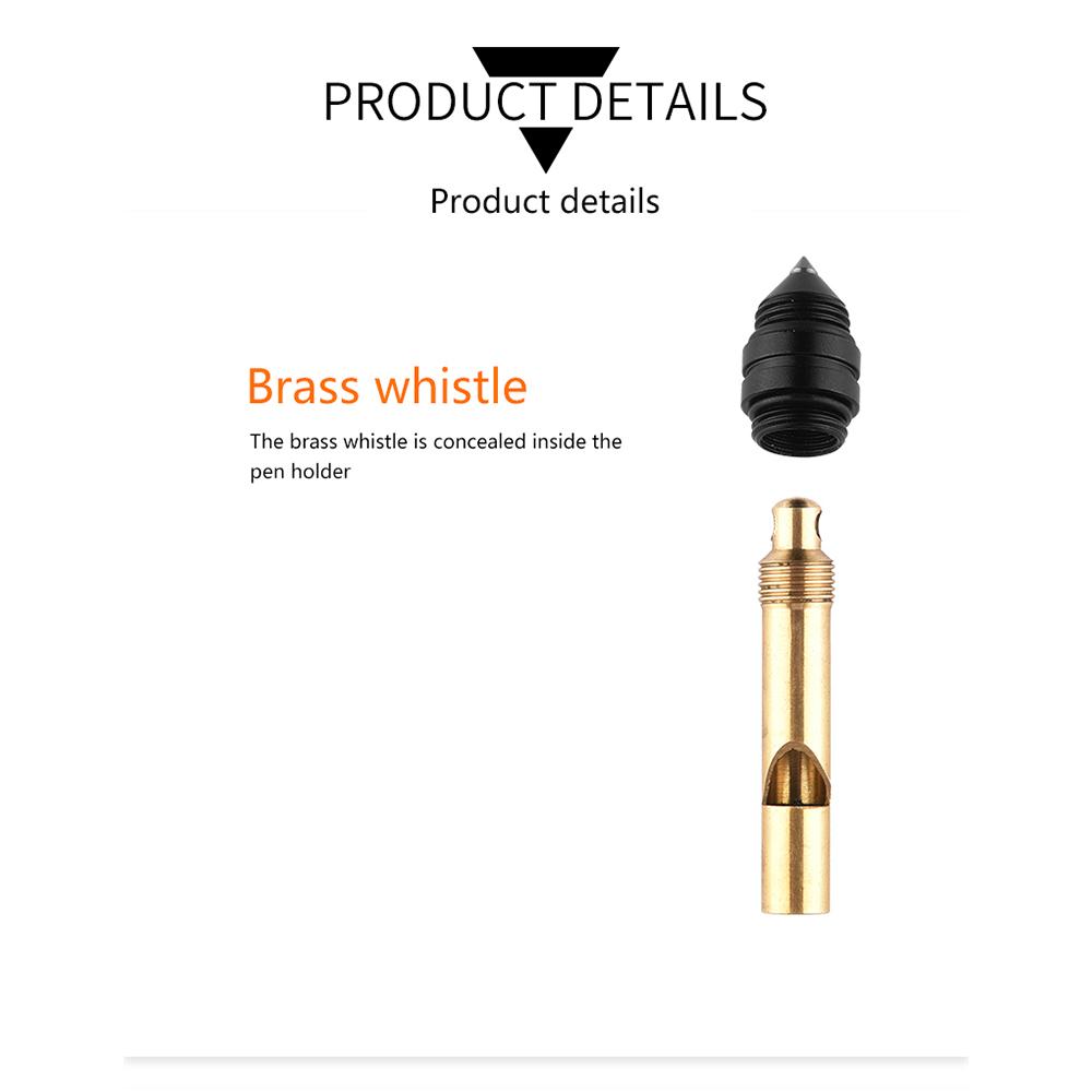 Tactical Pen Self Defense Multitool EDC Survival Whistle Glass Window Breaker