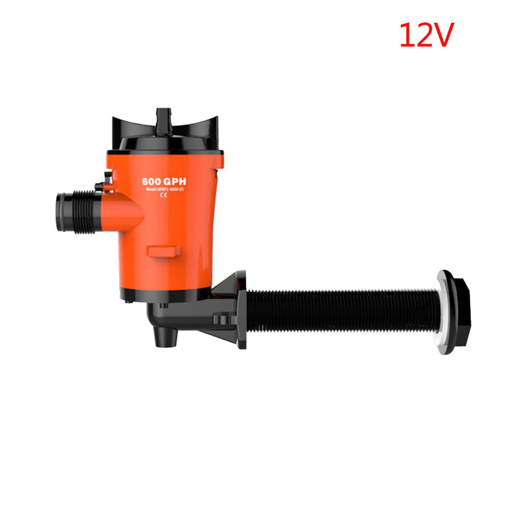 SEAFLO 12V 600GPH Livewell Bait Tank Aerator Submersible Cartridge Bilge Pump