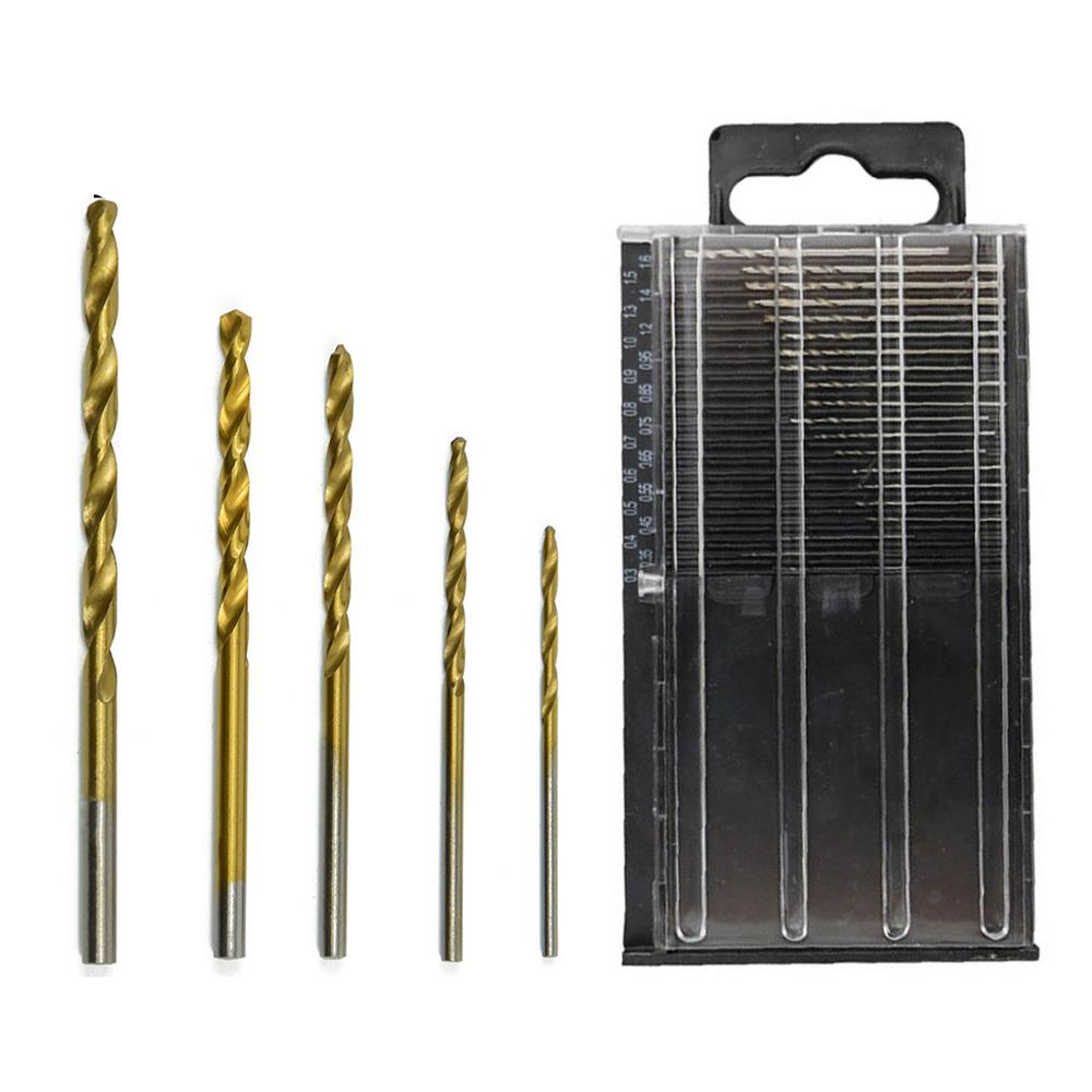 HSS-Micro-Drill-Bits-Set-High-Speed-Steel-Titanium-Metal-Twist-Drill-Bit-GOOD thumbnail 2