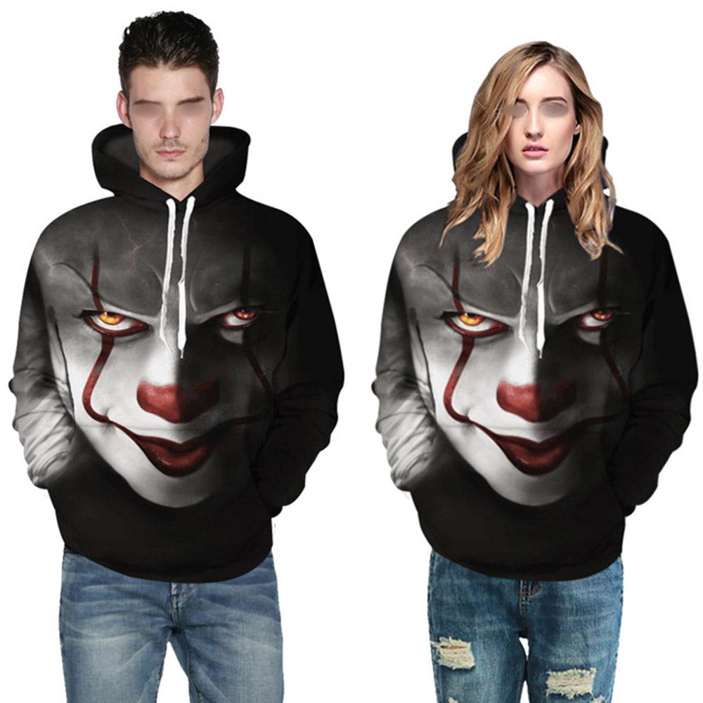3D Aufdruck Kapuzenpullover Stephen King es Pennywise Horror Clown Sportswear Y0