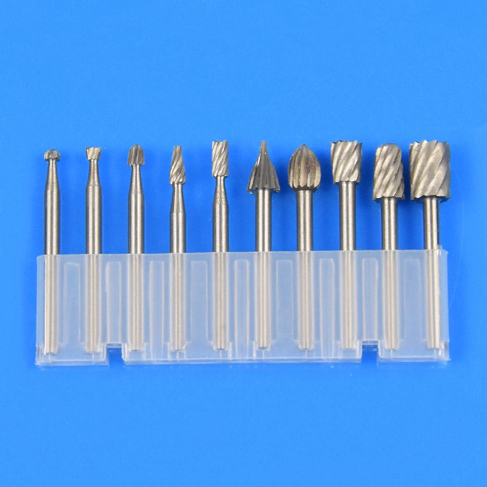 10pcs Carbide Burr Set Rotary File Burs Carving Grinding BitsCutter Box Kit NEO