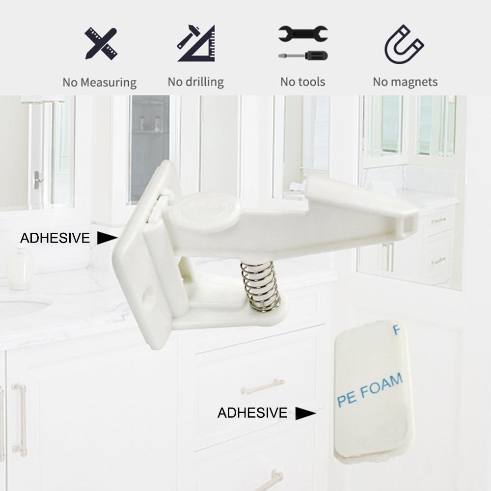 10pcs de sécurité enfant Armoire Serrures facile installer invisible tiroirs Spring Lock