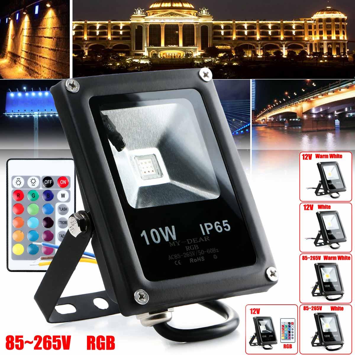 10W Waterproof IP65 Outdoor Flat LED Light Landscape Lighting 12V/85-265V
