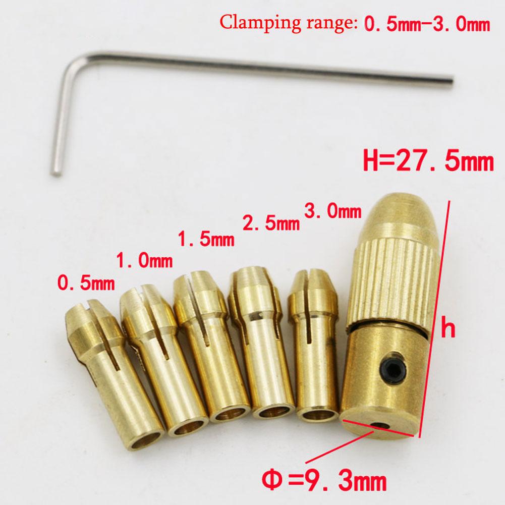 0.5-3mm Electric Copper Drill Bit Collet set Micro Board Wood Twist 2.35mm hole