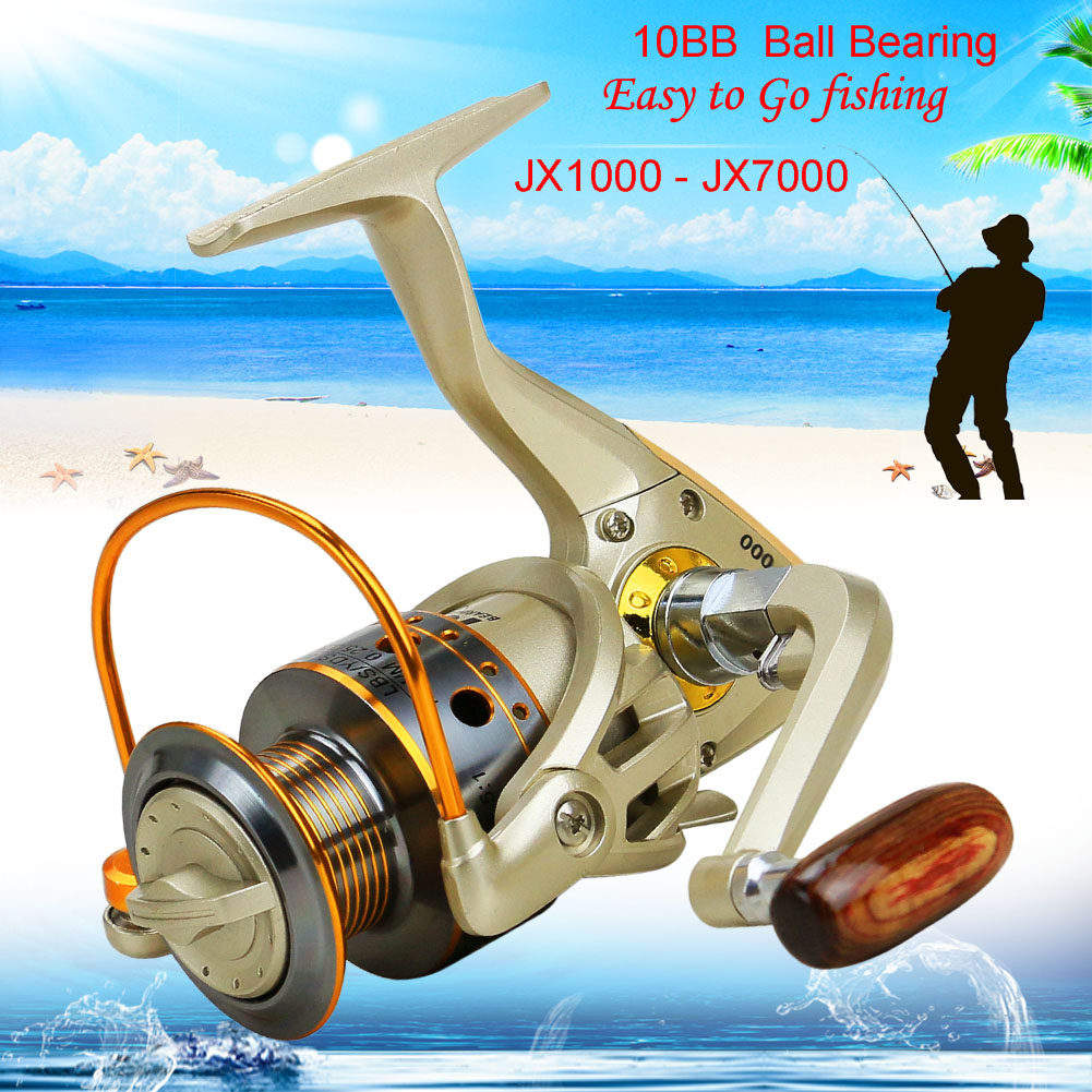 10 BB Left/Right Interchangeable Collapsible Handle Fishing Spinning Reel
