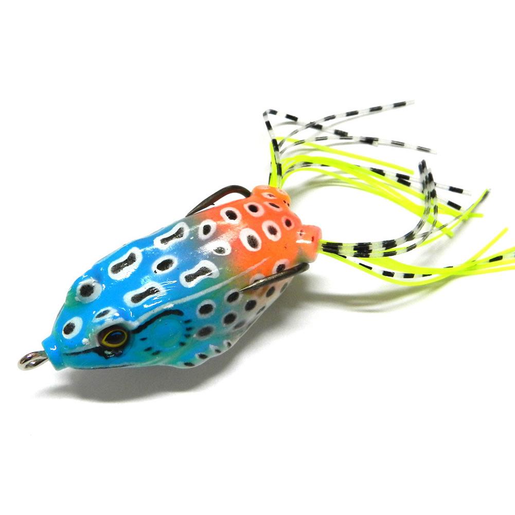 6pcs Blackfish Mixed Minnow Fishing Lures Ray Frog Soft Bionic Bait Tackle New