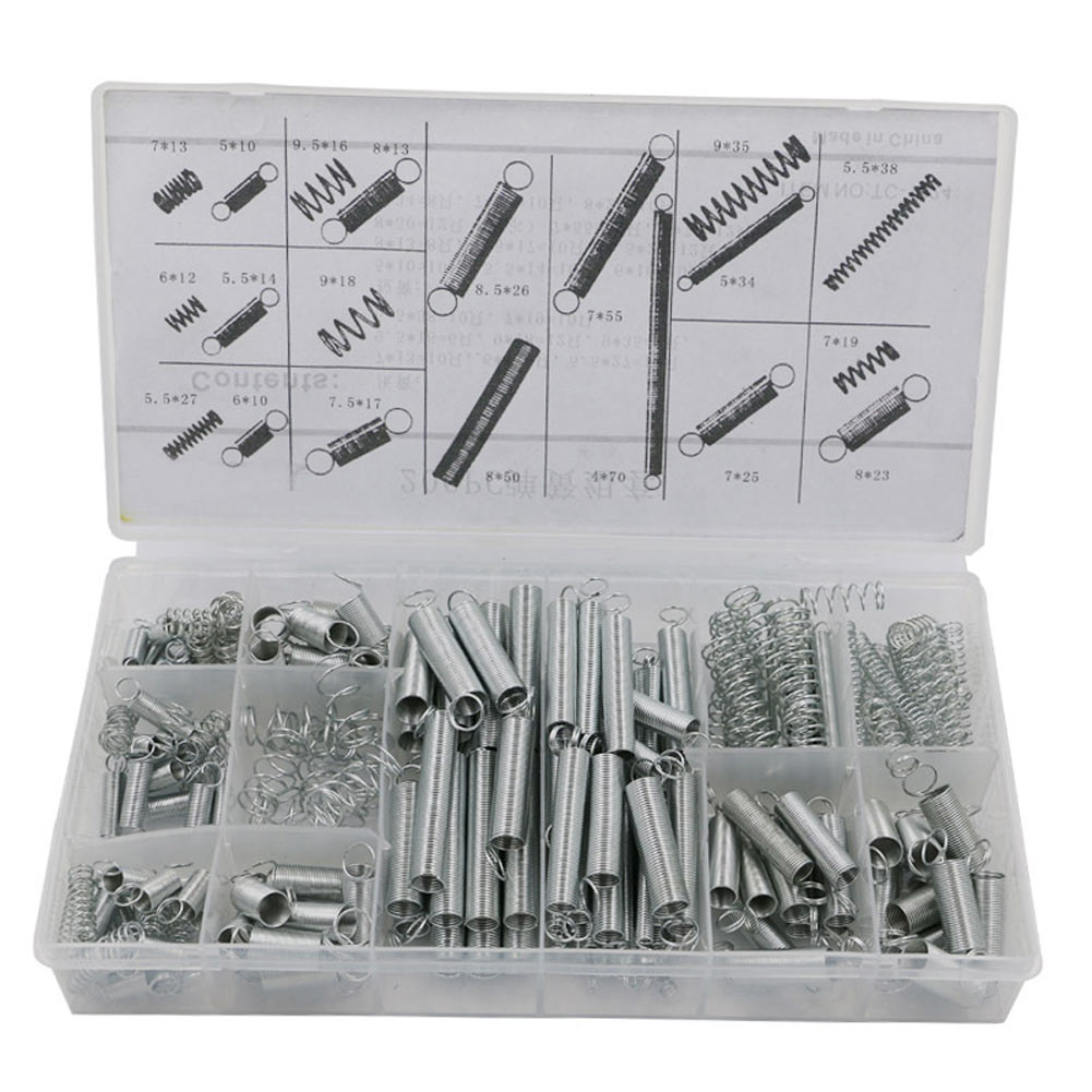 New 200PCS/set Metal Tension/Compresion Springs Assortment In 20 Sizes