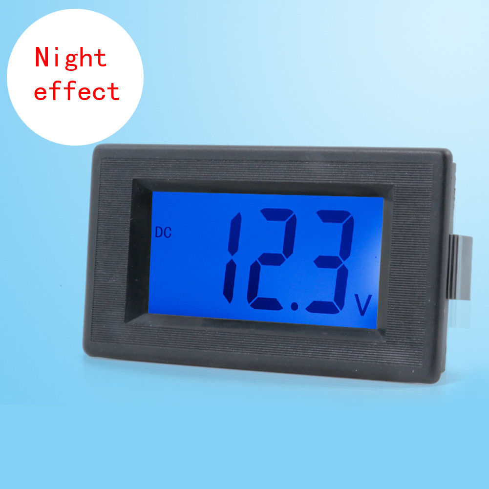 dc4 30v digitale voltmeter volt meter tester blaues lcd. Black Bedroom Furniture Sets. Home Design Ideas