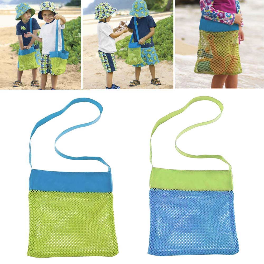 Beach Mesh Bag Tote Stay Away From Sand Children Seashell Collecting Bags