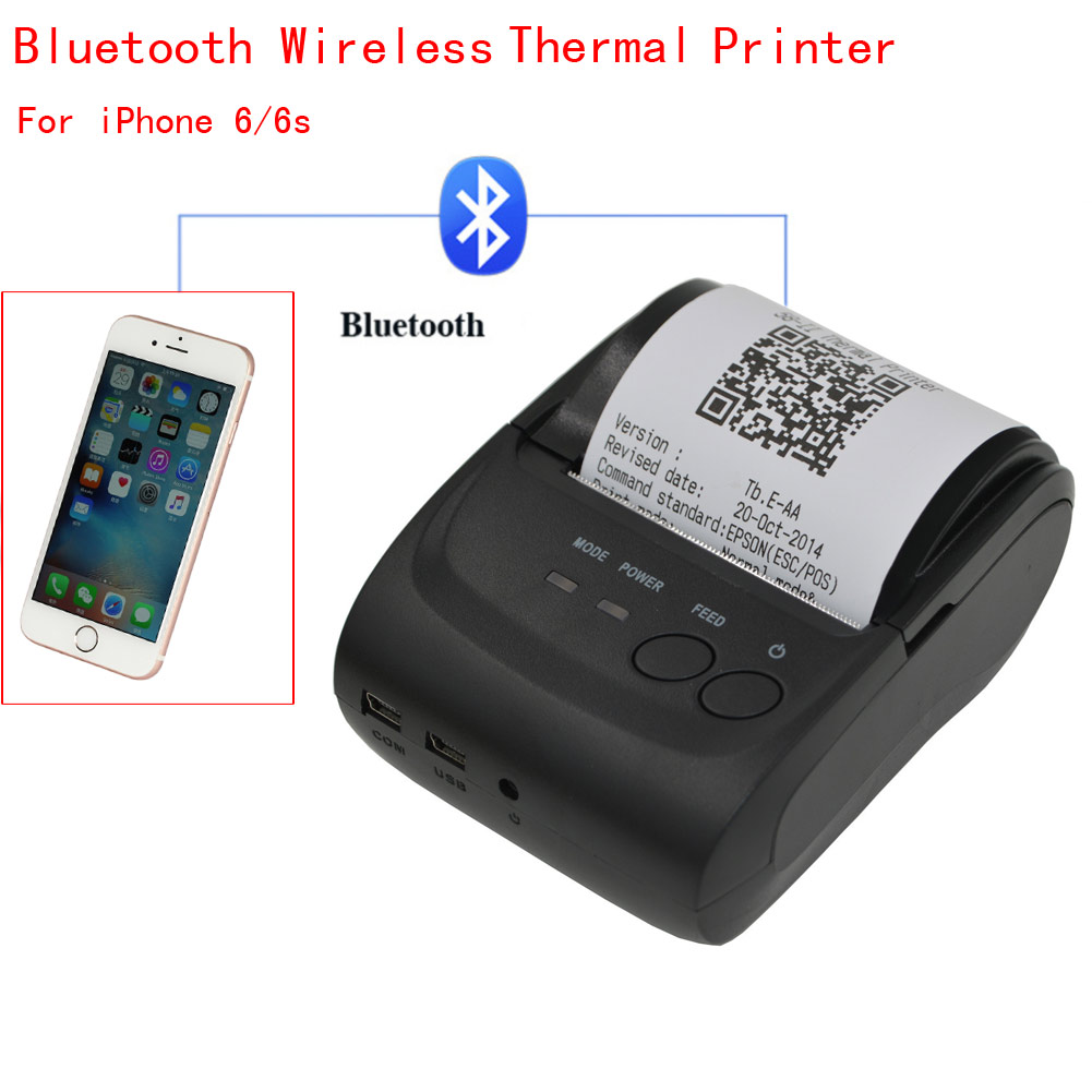 iphone 6 printer bluetooth wireless pocket thermal receipt printer for 11388