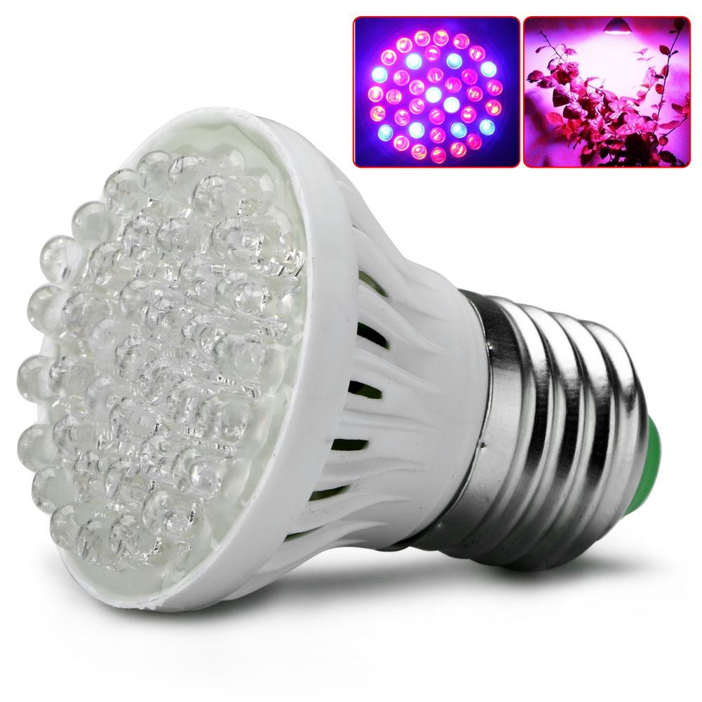 E27 38 LED Plant Grow Light Indoor Hydroponic Flower Vegetable Lamp 220V
