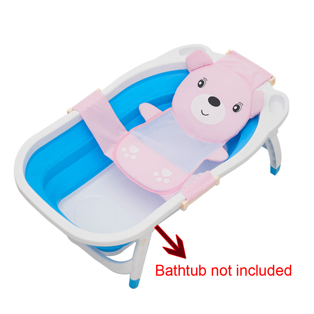 Well Baby Bath Seat Net Support Sling Shower Mesh Bathing Cradle ...