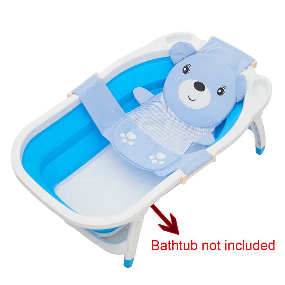 Baby Bath Seat Net Support Sling Shower Mesh Bathing Cradle Hammock ...