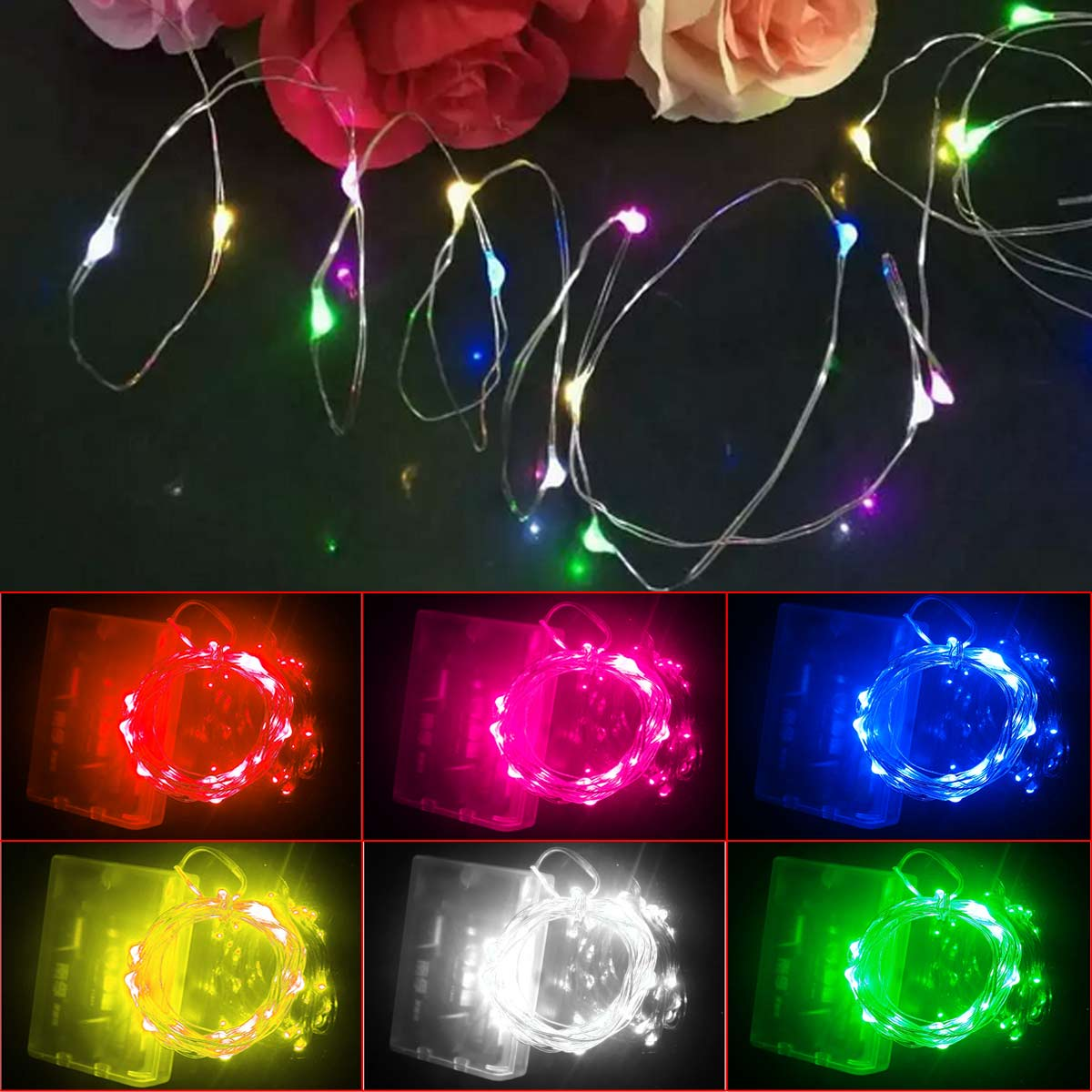 2M 20LED Silver Coating Copper Wire Fairy String Light Christmas decoration