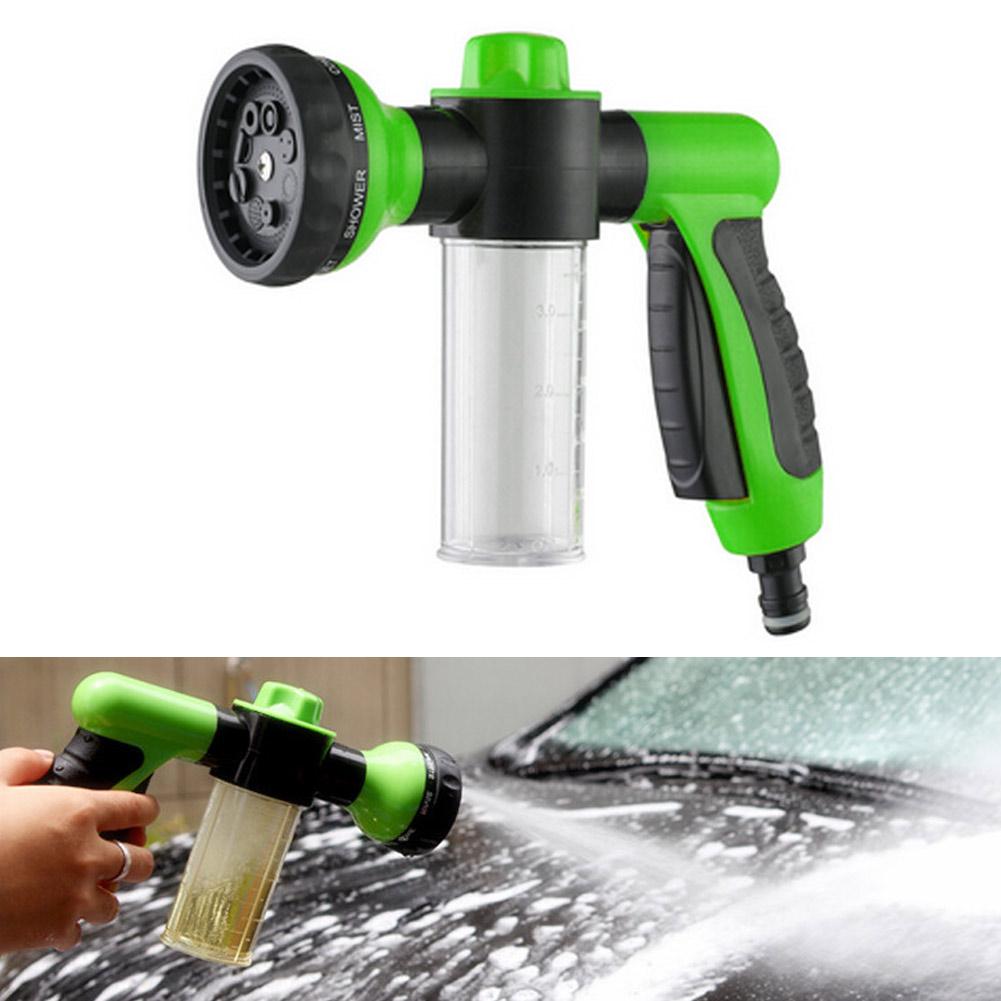 8 Spray Pattern Adjustable Water Gun Soap Dispenser-Garden