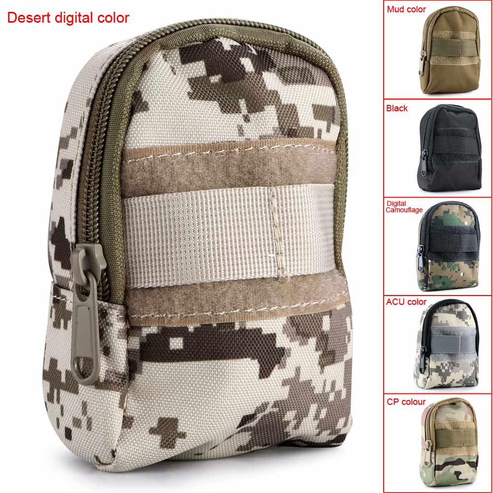 Fashion Outdoor Sports Mini Portable Bag Tactical Utility Zipper Pouch
