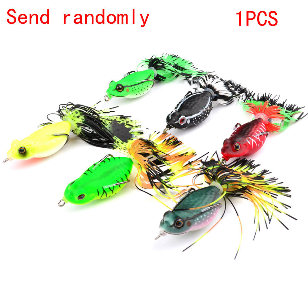 6.35cm 13.81g Hollow Body Frog Rattle Frogs Topwater Soft Fishing Lure