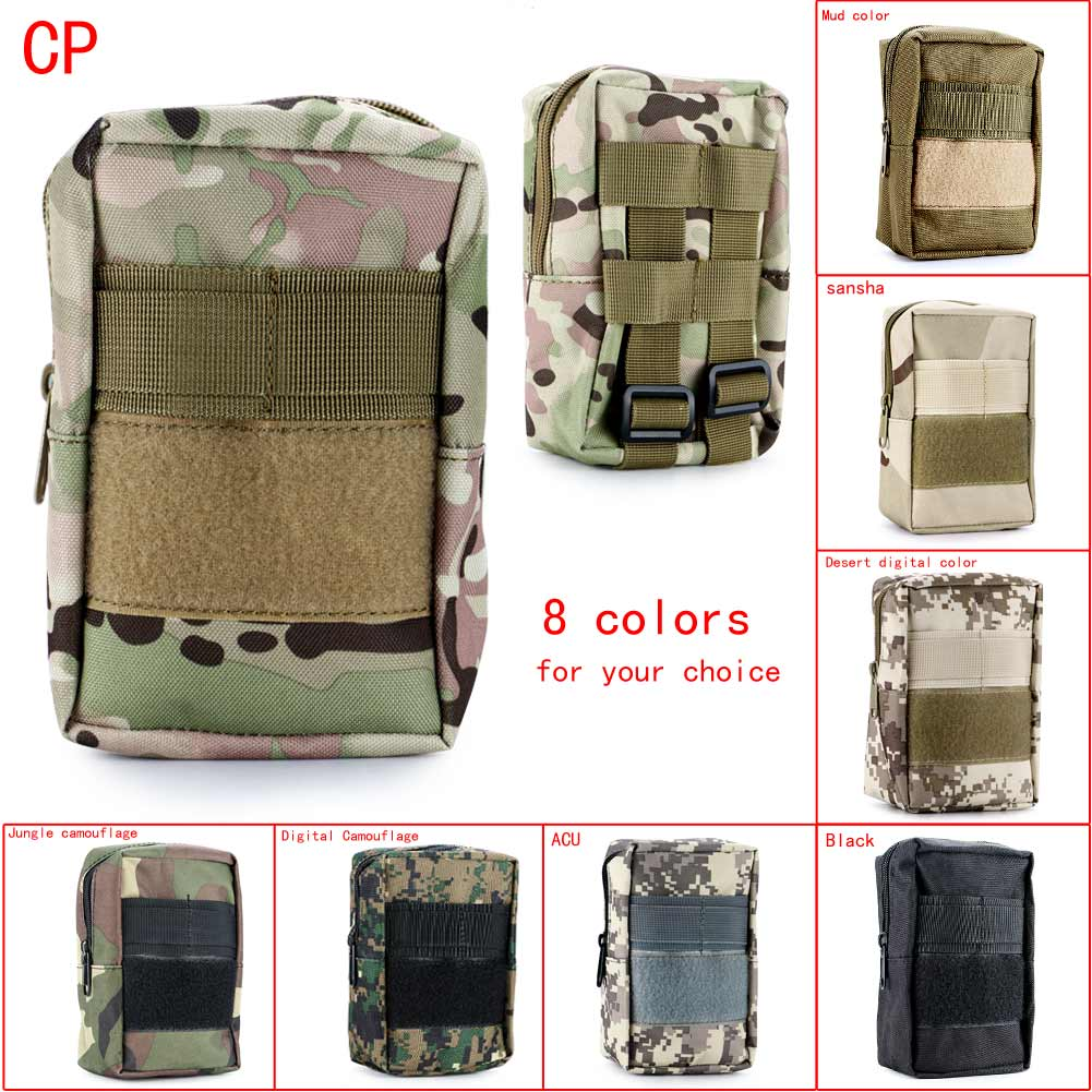 Fashion Outdoor Sports Mini Portable Bags Tactical Utility Zipper Pouch