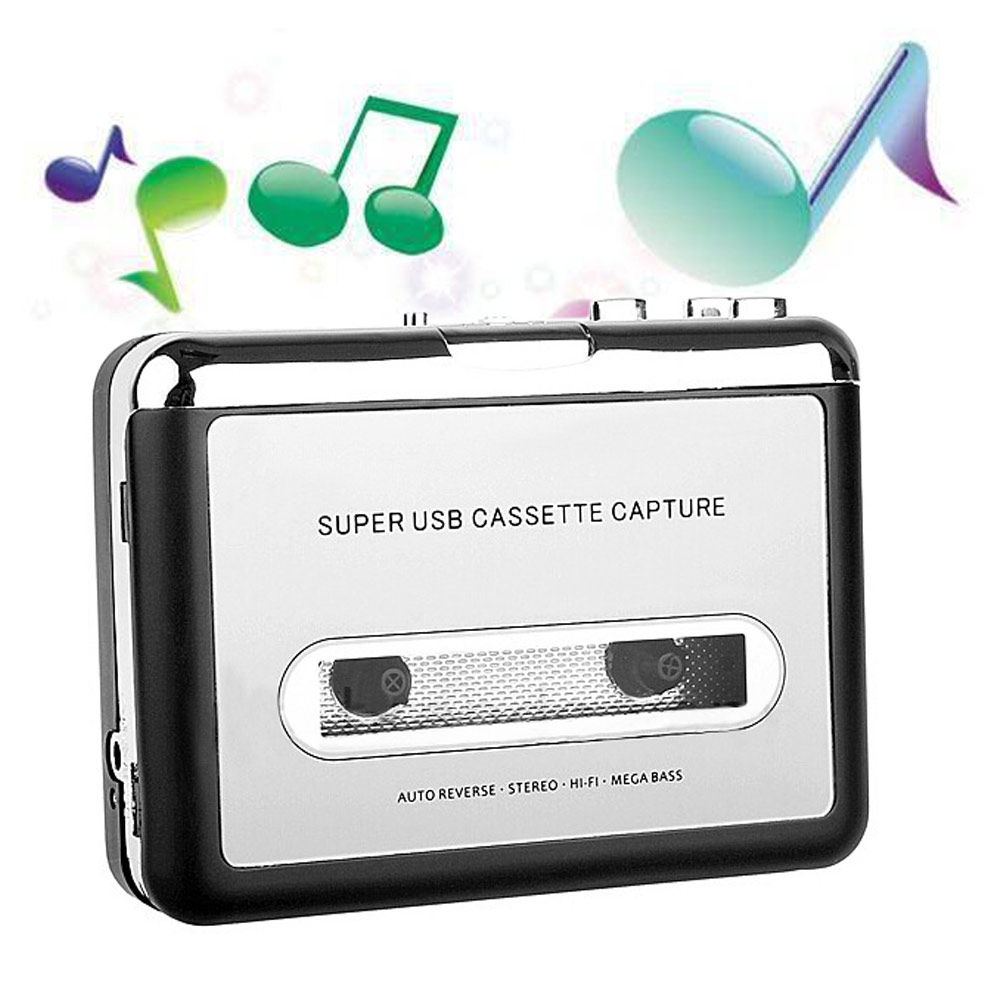 Portable Tape to Super Cassette Capture MP3 Player Converter With USB Cable