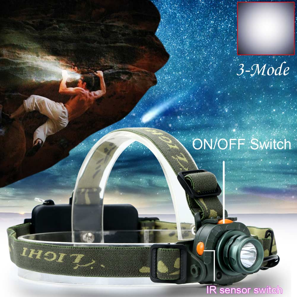 Q5 LED 2000LM Motion Sensing Headlamp Headlight Light Infrared Sensors