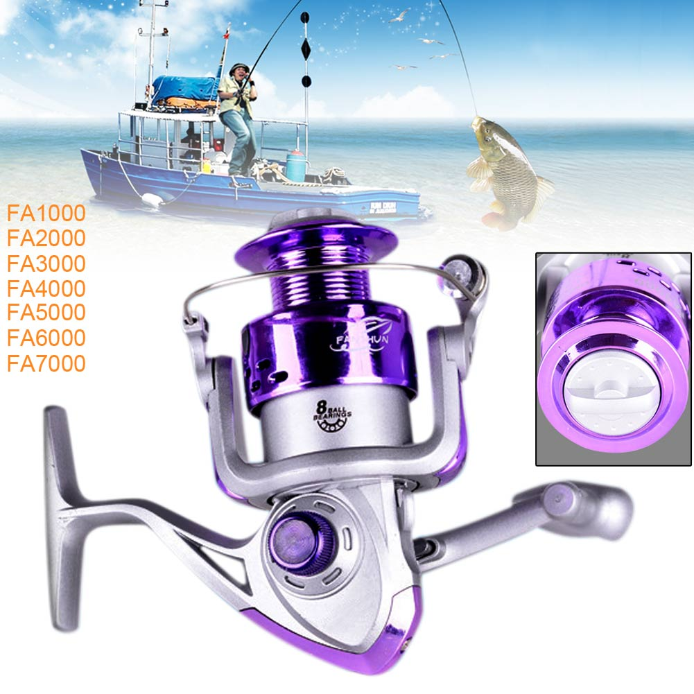 FA 8BB 5.2/1 Gear Ratio Saltwater/Freshwater Metal Fishing Spinning Reel