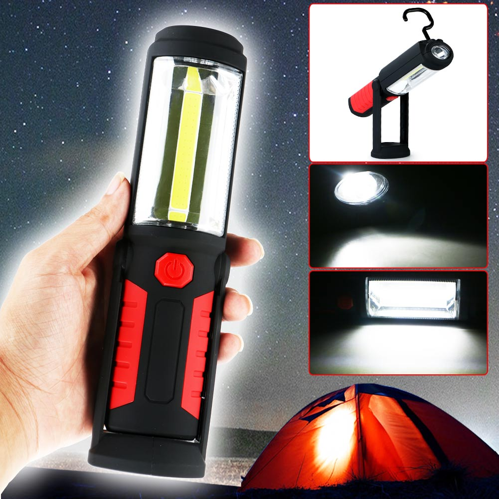 COB LED WorkLight Inspection LampHand Tool Garage Flashlight Torch Magnetic