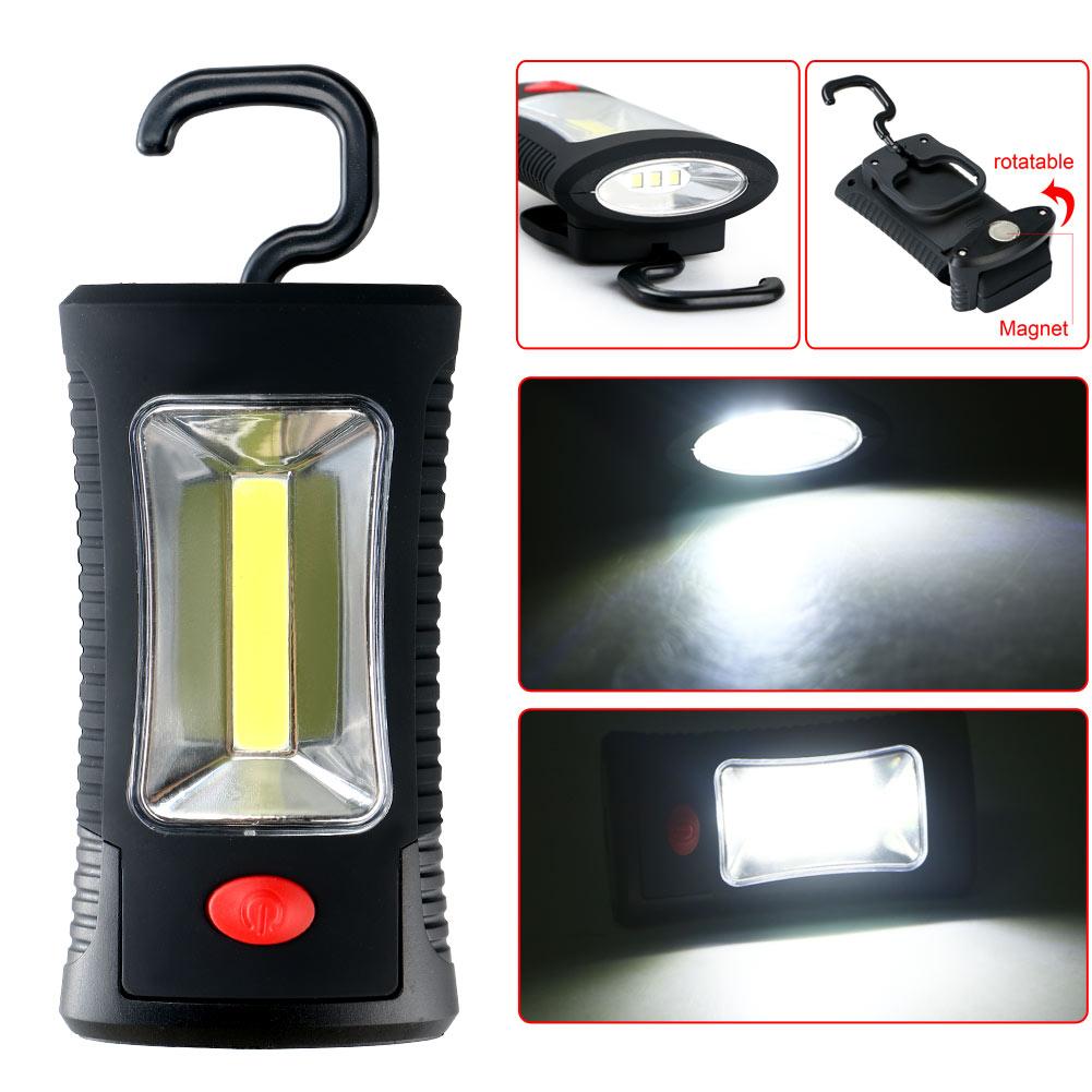 Super Bright 8 Led Work Light Torch Car Garage Flashlight: COB LED Work Light Inspection Lamp Hand Tool Garage