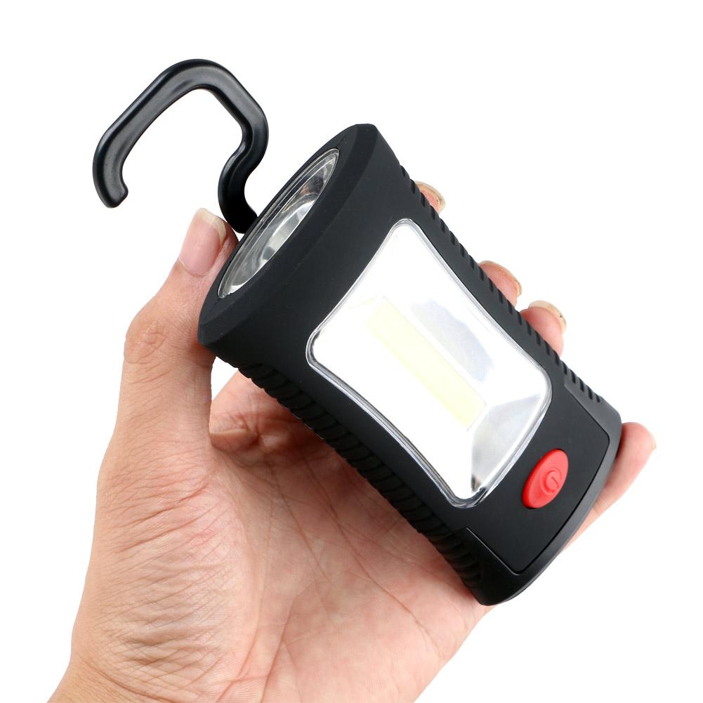 360 Degree LED Light Torch Work Lamp Inspection w// Hook Hanging Flashlight