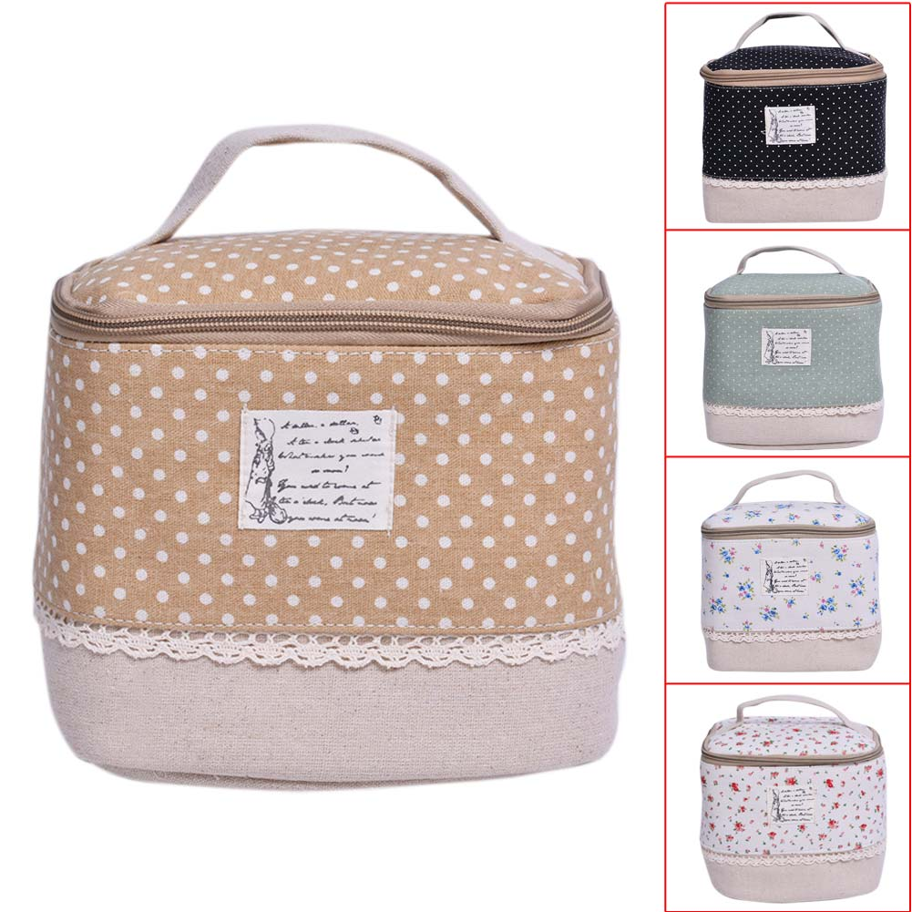 Multifunction Travel Floral Cosmetic Storage Case Pouch Toiletry Makeup Bag