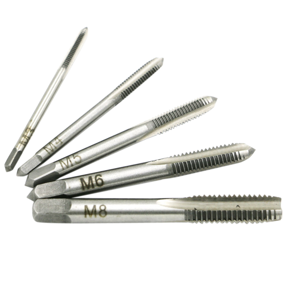 Diameter 3mm-8mm Hand Screw Thread Hole Metric Plug Straight Flute Tap Set