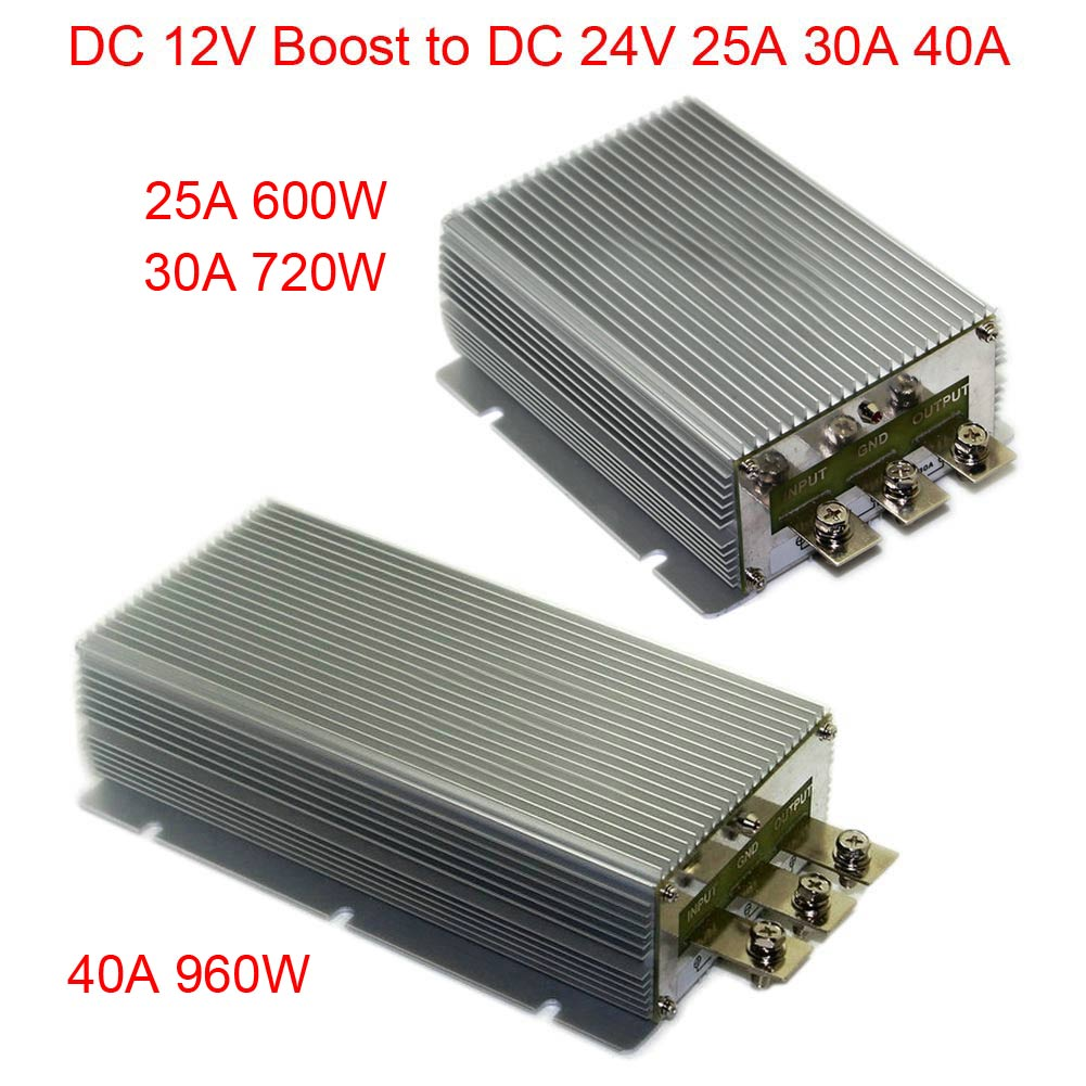 DC 12V Boost to DC 24V 25A 30A 40A Power Supply Converter Module Waterproof