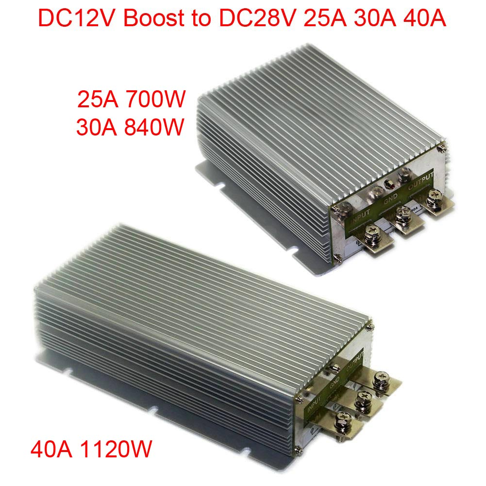 DC12V Boost to DC28V 25A 30A 40A Power Supply Converter Module Waterproof