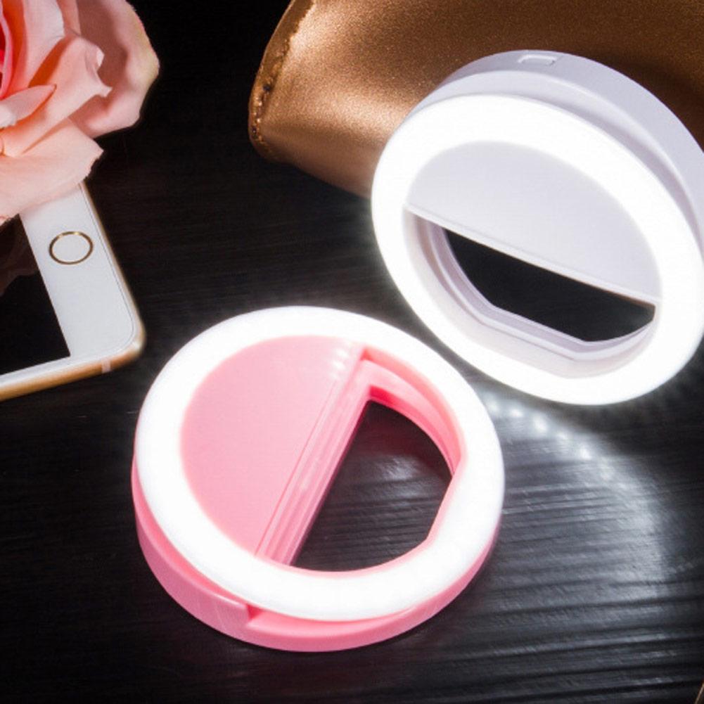 Makeup Ring And Lights: Selfie Portable Mini Mobile Phone Makeup LED Ring Flash