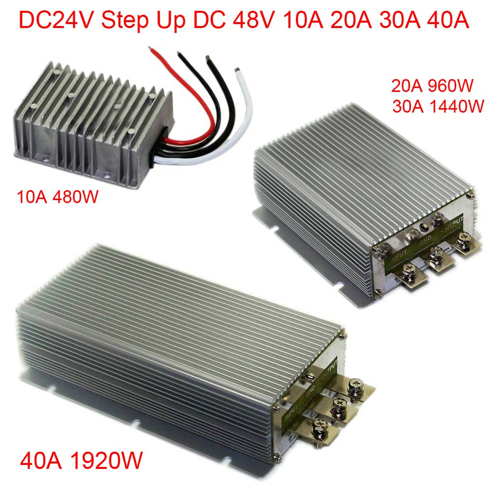 DC24V Step Up 48V 10A 20A 30A 40A Power Supply Converter Module Waterproof
