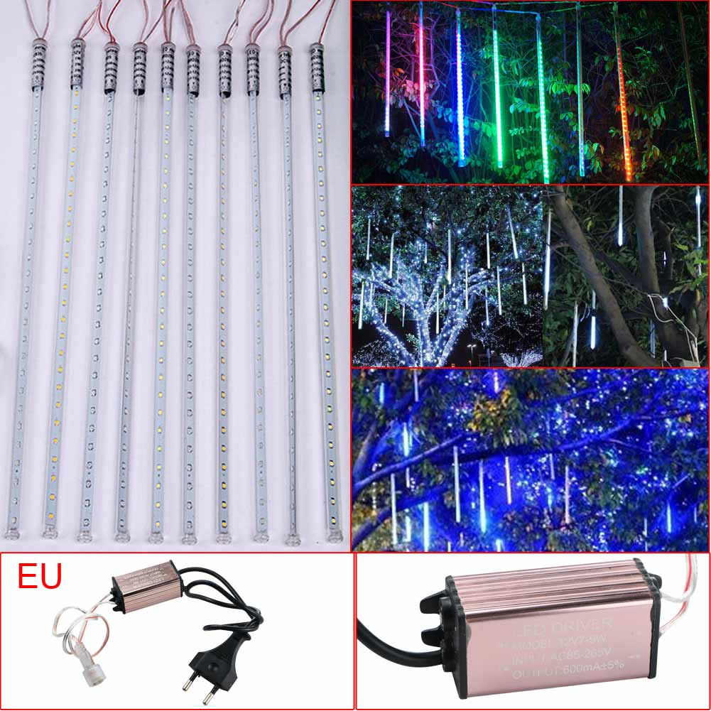 Waterproof Meteor Shower Rain Tube SMD2835 54LED String Light Lamp W/EU Set