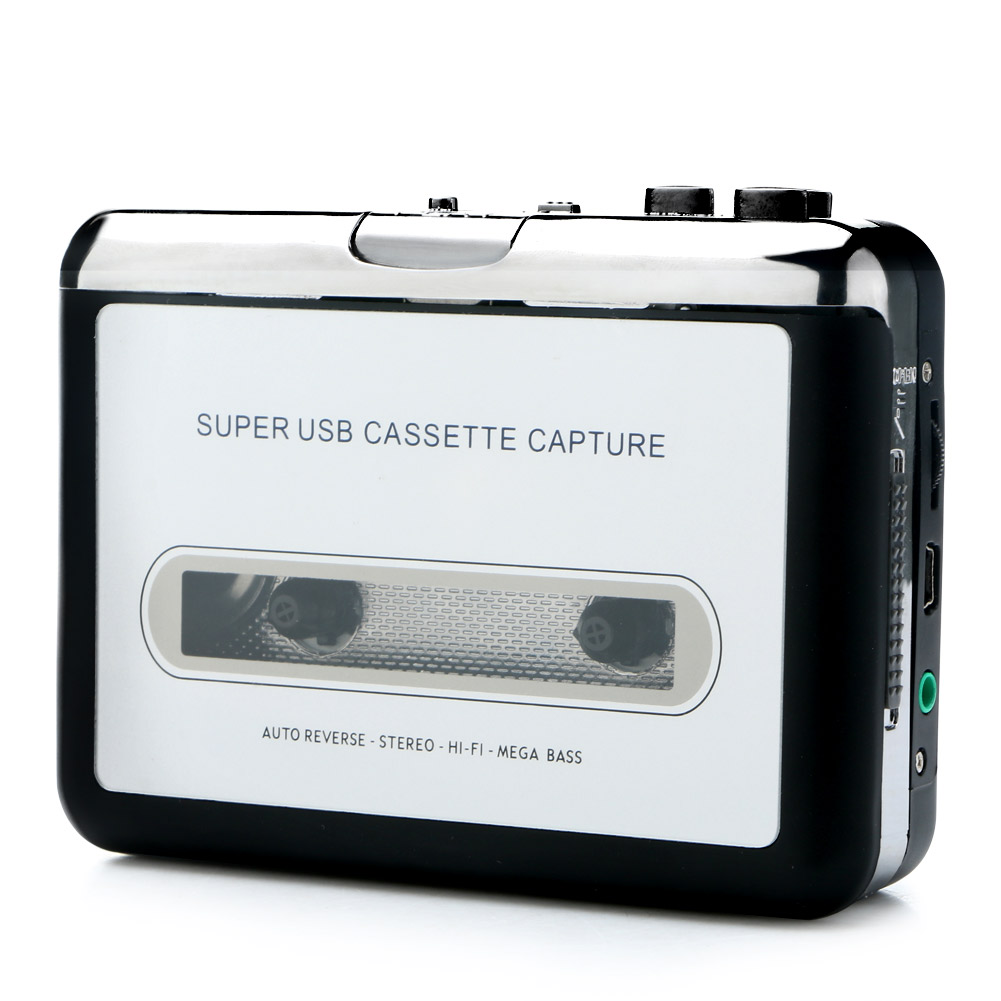 cool portable tape to cassette capture mp3 player converter audio music player ebay. Black Bedroom Furniture Sets. Home Design Ideas