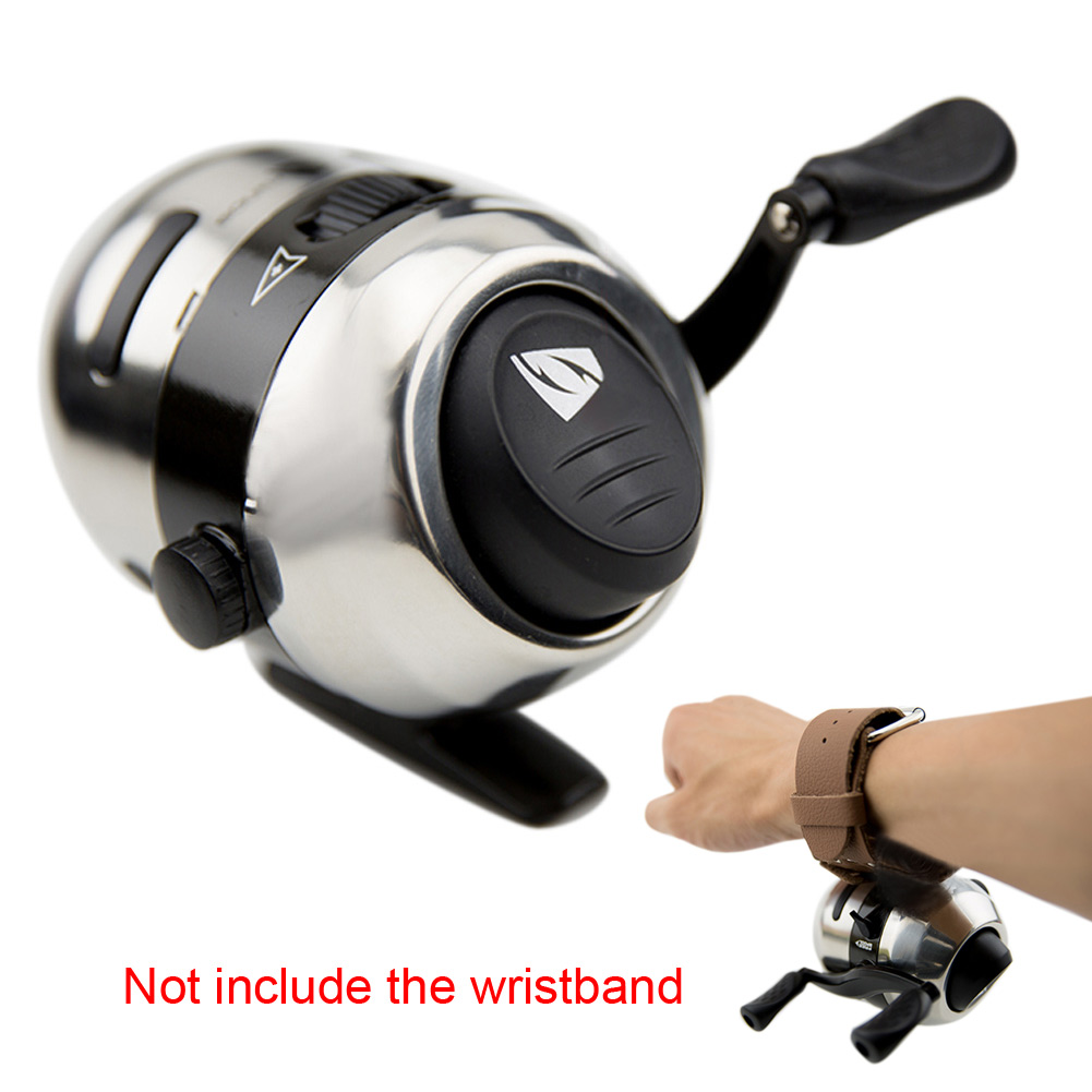 Mini Bow Slingshot Catapult Hunting Shooting Fishing Spincast Reel Wheel
