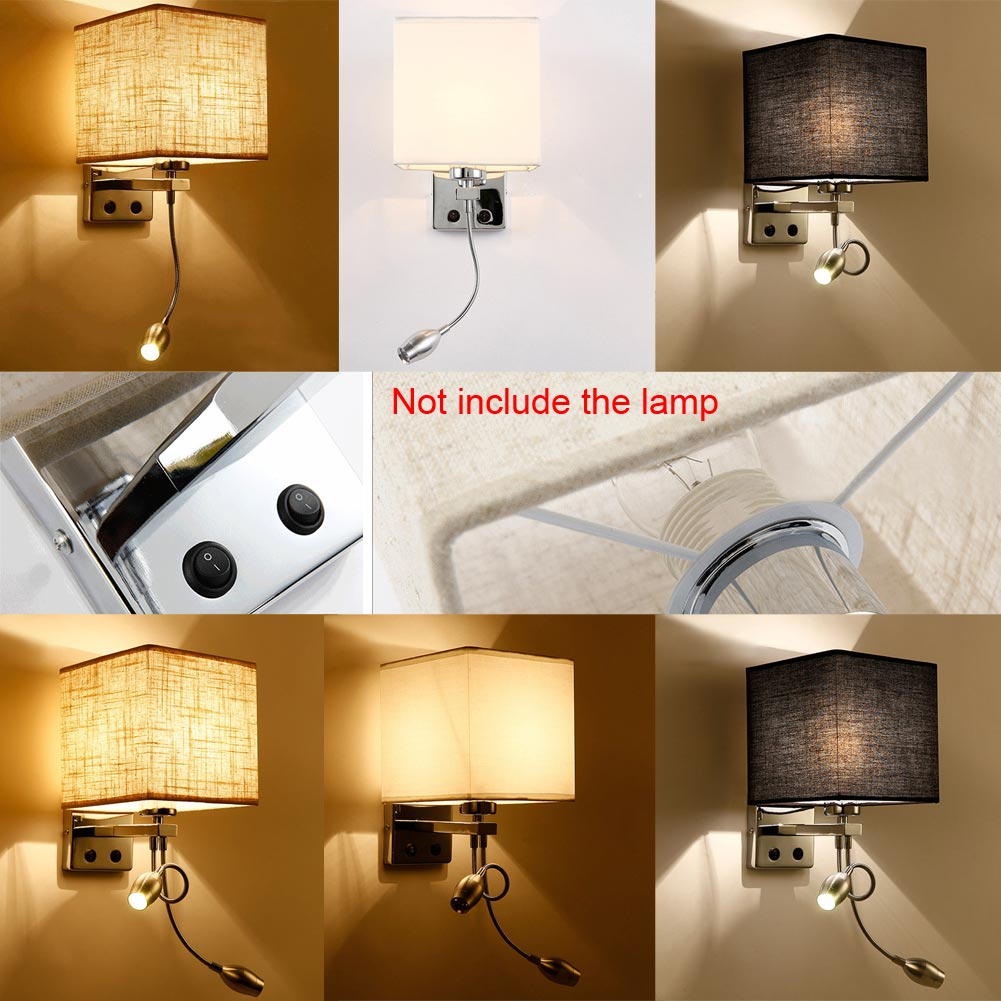 bedroom sconce lighting modern led cloth wall light up lamp cube sconce light 10619