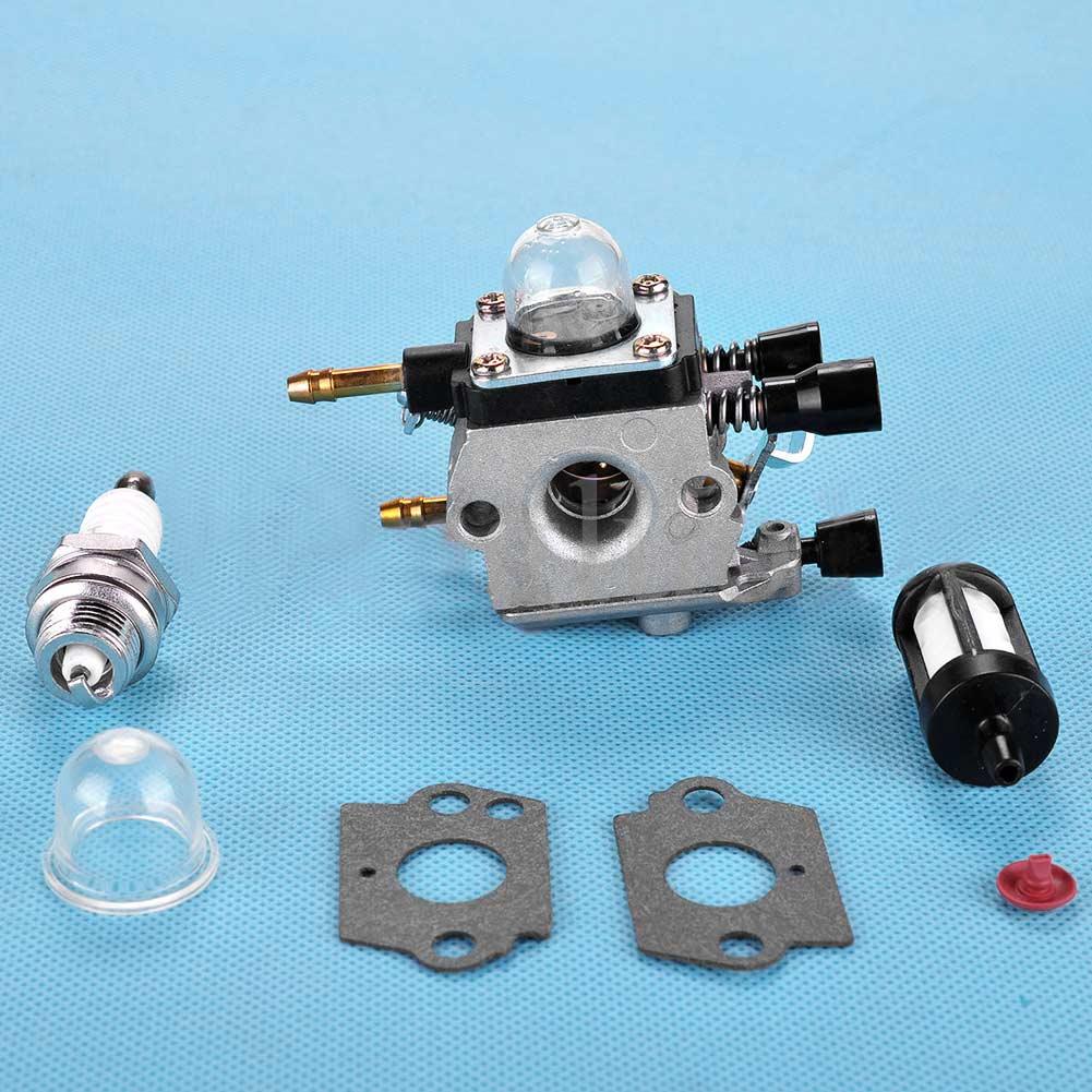 Carburetor Carb Primer Bulb Fuel Filter Set Fit Type BG55 BG65 BG85 SH55