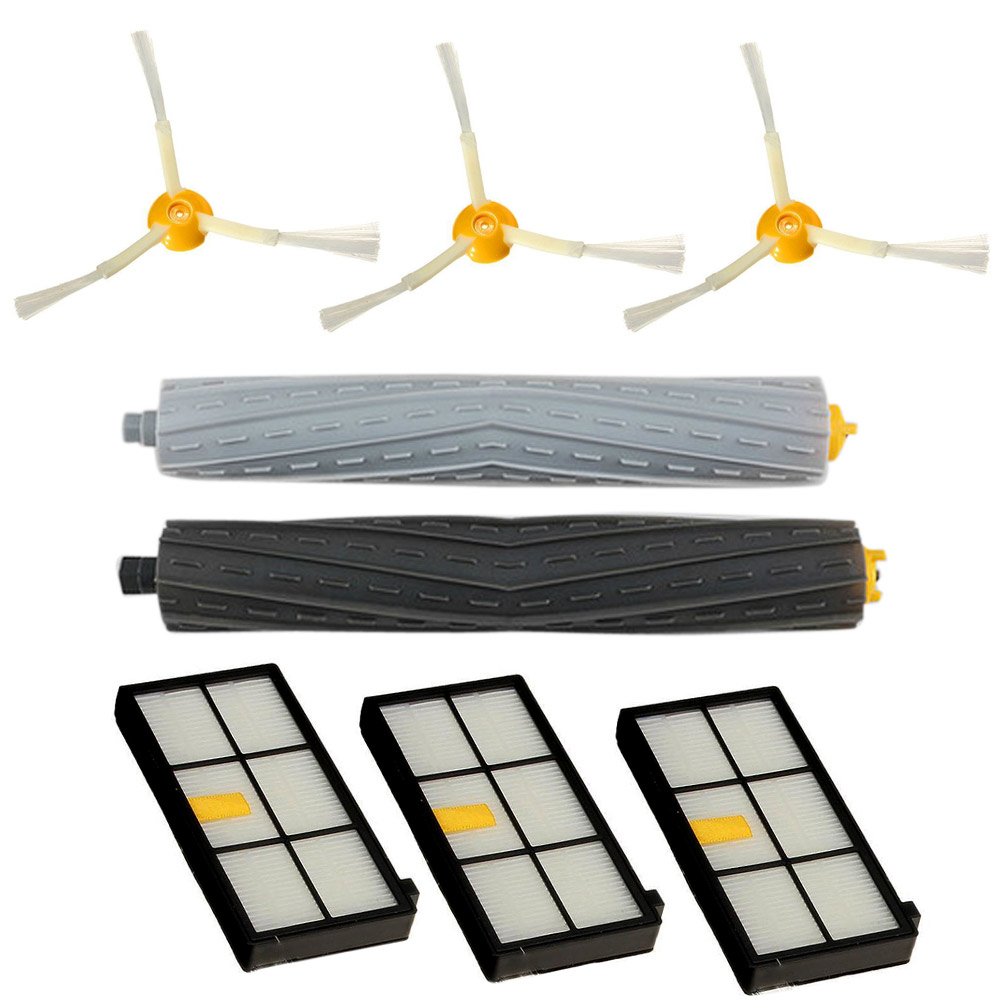 Tangle-free Side Brush Filter Debris Extractor Set For Series 800 870 880
